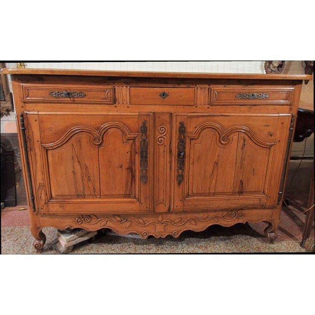 Louis XV 18th Century French Cherry Wood Buffet For Sale - Image 3 of 11