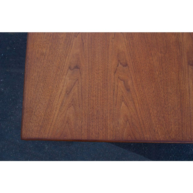 Wood Massive Edward Wormley for Dunbar Walnut and Mahogany Dining / Conference Table For Sale - Image 7 of 12