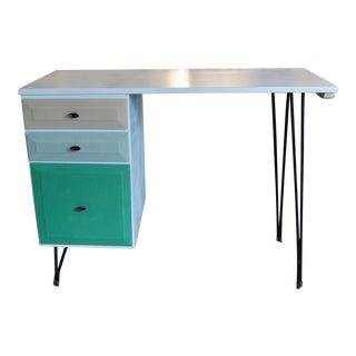 Mid-Century Modern Wood Desk