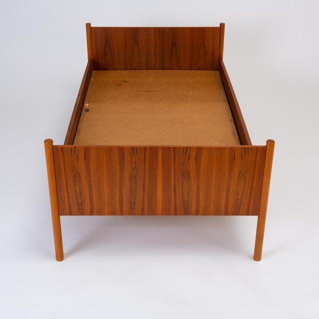 Brown Single Scandinavian Modern Twin Bed by Westnofa For Sale - Image 8 of 13