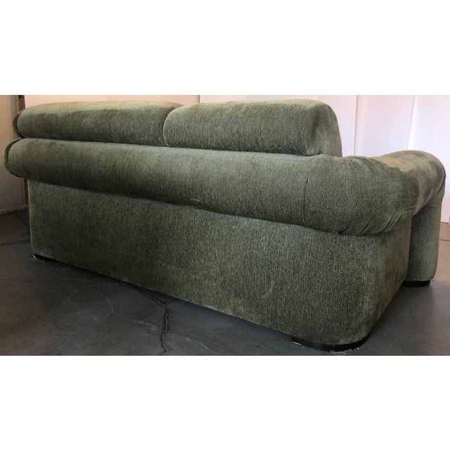 Wood Olive Green 3 Piece Sectional From 80s For Sale - Image 7 of 13