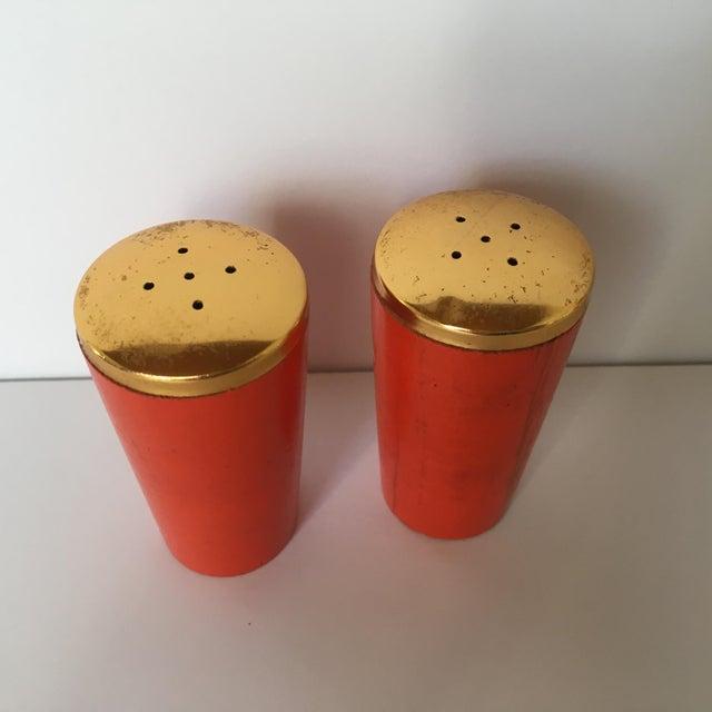 Vintage Orange Salt & Pepper Shakers - Image 5 of 5