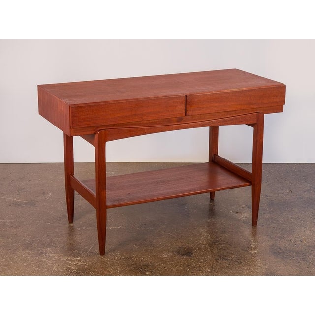 Ib Kofod Larsen Teak Console Table for Faarup For Sale - Image 11 of 11