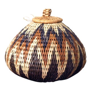 Vintage Zulu Seed Basket For Sale