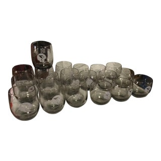 Collectable NFL Glasses - Set of 18 For Sale