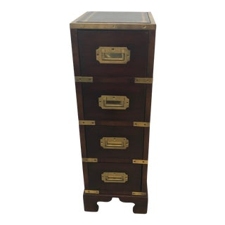 1920's Vintage English Campaign Chest For Sale