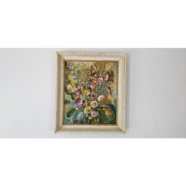 1980 Jaga Prokopiuk Polish - Still Life Oil on Canvas Painting For Sale - Image 10 of 10