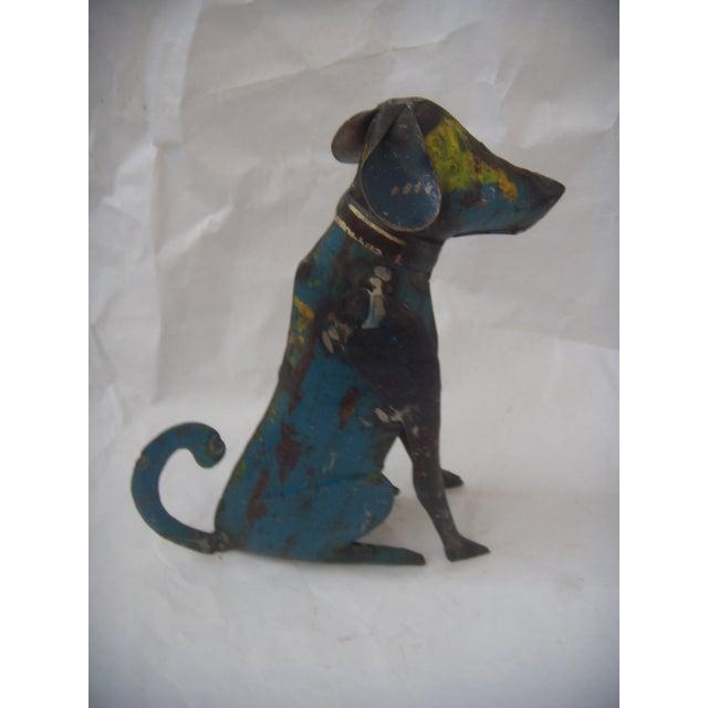 Reclaimed Steel Dog Sculpture - Image 5 of 5