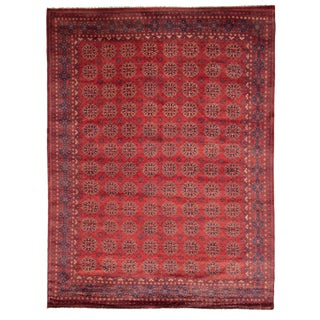 "Afghan Hand-Knottted Rug-8'4"" X 11'0"" For Sale"