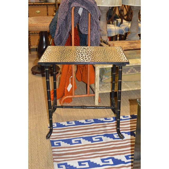 Vintage Rattan Side Table - Image 2 of 7