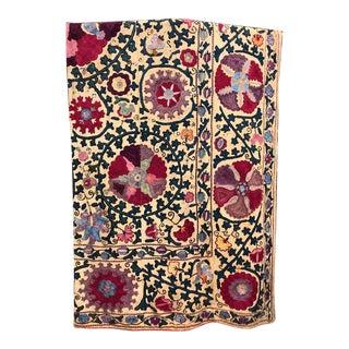 Antique Colorful Suzani Textile For Sale