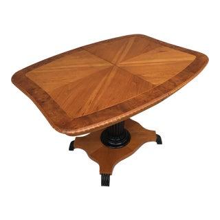 19th Century Biedermeier Pedestal Tea/Dining Table For Sale