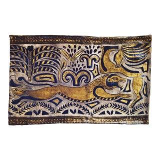 Hunting Lion Silk Velvet Pillow Cover For Sale