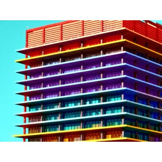 Rainbow Mid Century Architecture Limited Edition Print For Sale