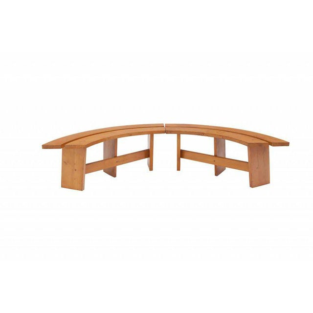 Pierre Chapo Pierre Chapo Curved Benches For Sale - Image 4 of 11