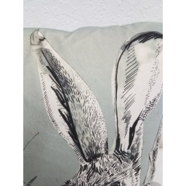 Rabbit Hare Pillow - Made in Wales, United Kingdom For Sale In Dallas - Image 6 of 11