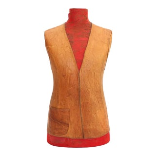 Highly Decorative Leather Torso For Sale