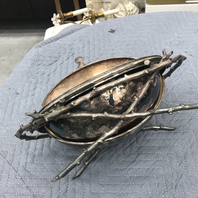 1970s Mid-Century Modern Silver Plated Terrine For Sale In Miami - Image 6 of 11