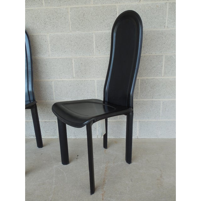 Vintage Artedi Italian Leather Chairs - A Pair - Image 4 of 7