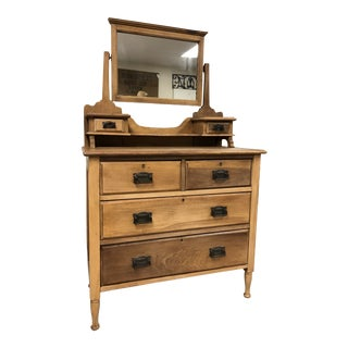 19th Century Antique English Satinwood Vanity For Sale