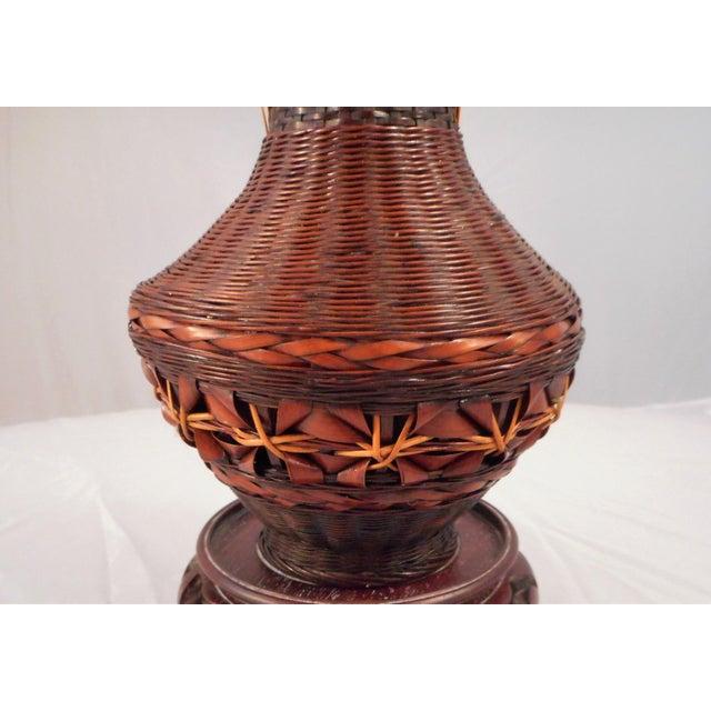 Japanese Antique Japanese Ikebana Hanakago Bamboo Vase - Master Weaver For Sale - Image 3 of 8