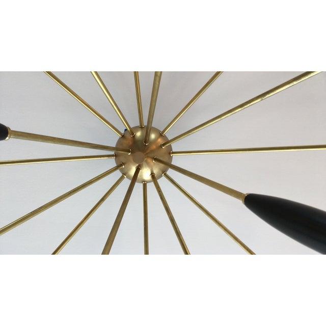 """Sputnik"" Custom Brass/Black Flush Mount Chandelier For Sale In New York - Image 6 of 7"