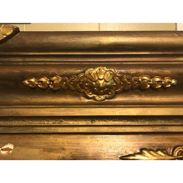 Antique Ornate Victorian Style Gilt Fireplace Mantel Topper For Sale - Image 9 of 13