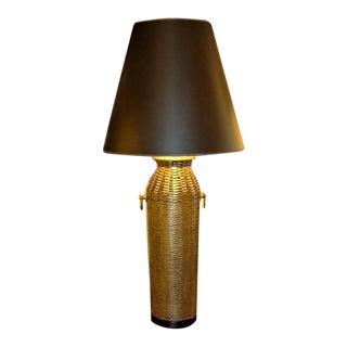 Tall Woven Brass Lamp by Chapman