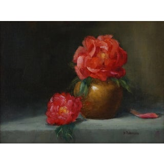 "Helene Robinson ""Peonies"" Oil Painting For Sale"