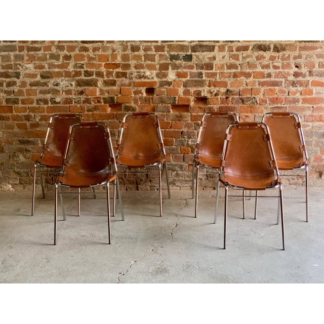 Les Arcs Dining Chairs Leather, 1960s - Set of 6 For Sale - Image 12 of 13