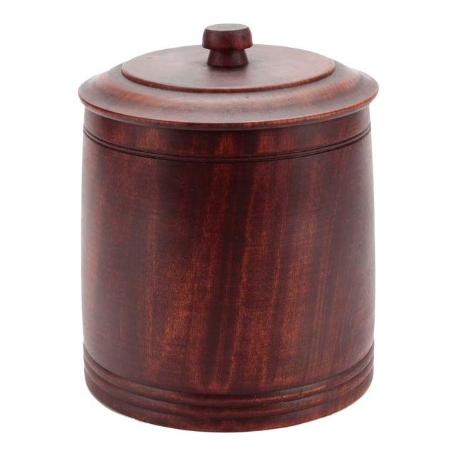 Mid-Century Hand-Turned Vintage Walnut Ice Bucket by Mort N. Marton For Sale