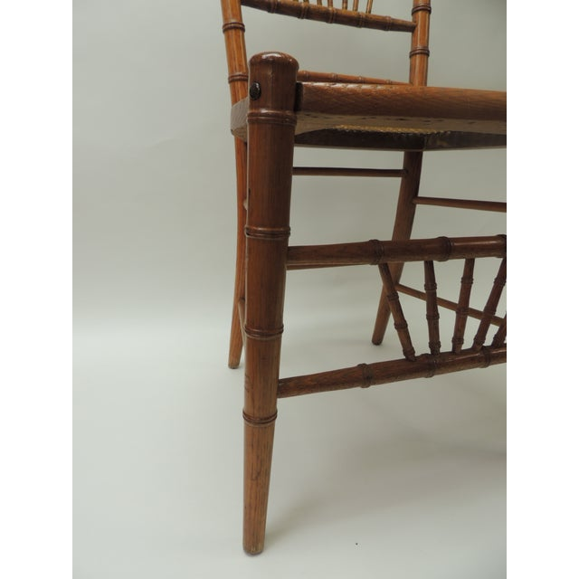 19th Century English Bamboo and Rattan Ballroom Chair For Sale - Image 4 of 9