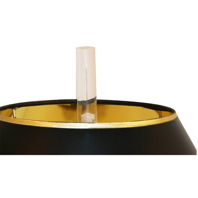 Bauer Lamp Company Bauer Lamp Company Lucite Brass and Glass Table Lamp For Sale - Image 4 of 12