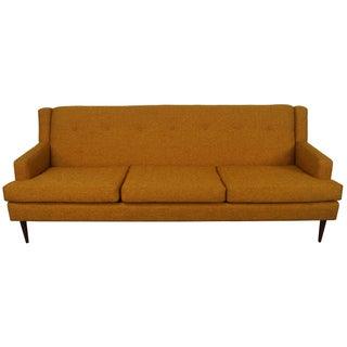 Mid-Century Modern Sofa in Mustard