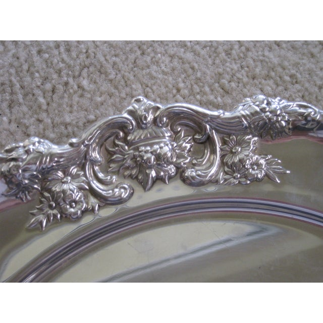 """Sterling Round 12"""" Charger With Cornicopia For Sale - Image 4 of 7"""
