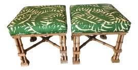 Image of Faux Bamboo Benches