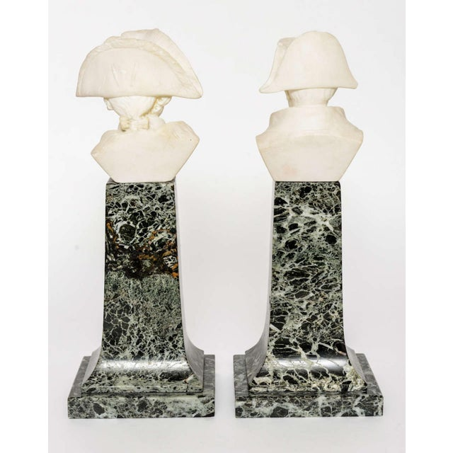 Late 19th Century French Empire Style Marble and Alabaster Models of Napoleon and Frederick For Sale - Image 5 of 9