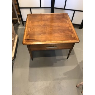 """Lane Acclaim Mid-Century Modern Walnut """"Commode"""" Square Side Table Preview"""