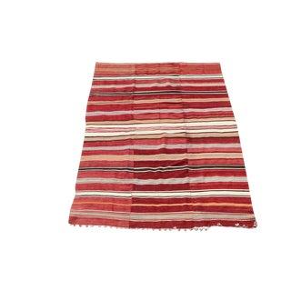 Striped Old Persian Kilim - 5′1″ × 8′6″ For Sale