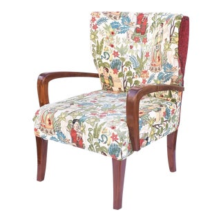 Mid-Century Custom Frida Kahio Upholstered Chair