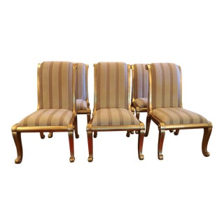Upholstered Dining Chairs- Set of 6 For Sale