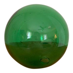 Vintage Green Glass Fishing Float For Sale