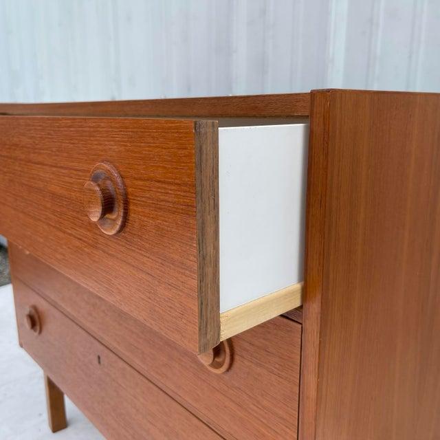 Vintage Modern Teak Commode or Dresser For Sale - Image 12 of 13