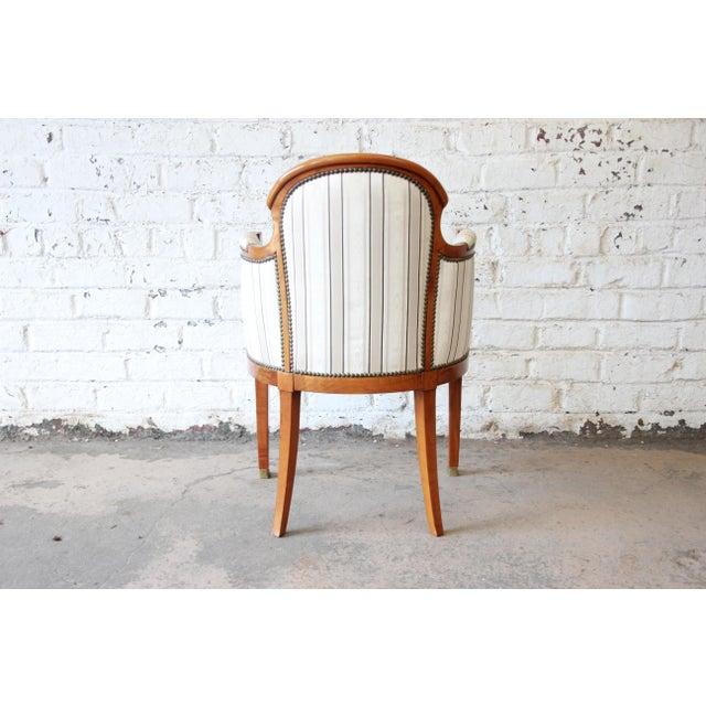 White Antique Petite Biedermeier Style Armchair For Sale - Image 8 of 9