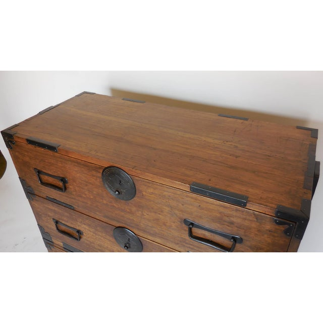 Brown 19th Century Japanese Shop Tansu, Chest of Drawers For Sale - Image 8 of 13
