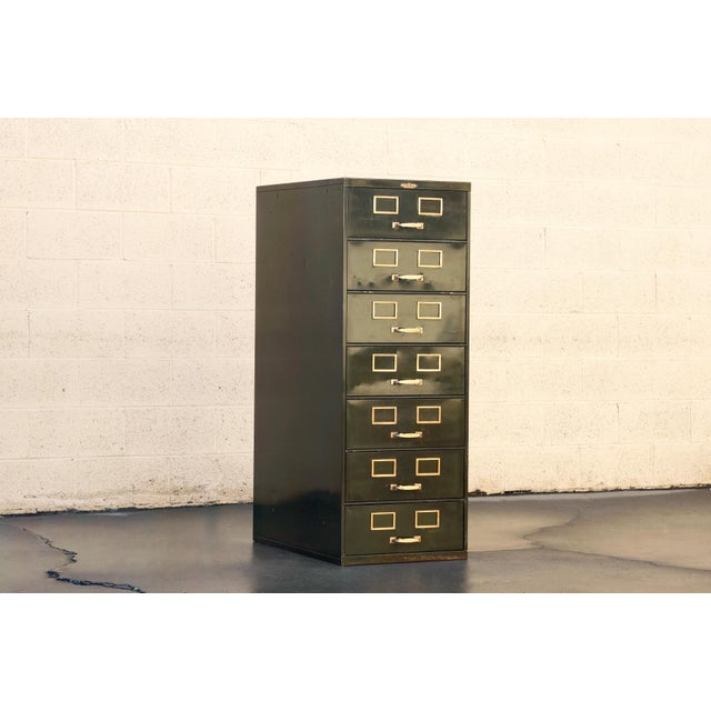 1930s Multi Drawer Card Filing Cabinet by Remington Rand For Sale - Image 10 of 13
