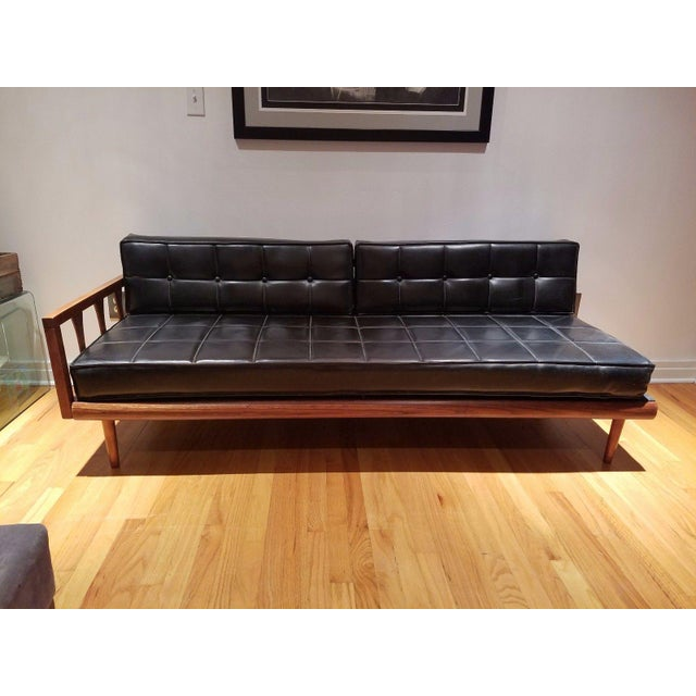 Mid Century Modern Vinyl Daybed / Loveseat - Image 11 of 11