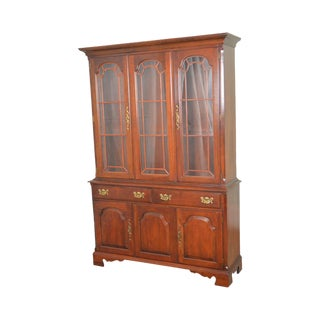 Pennsylvania House Traditional Cherry 2 Piece China Cabinet Breakfront