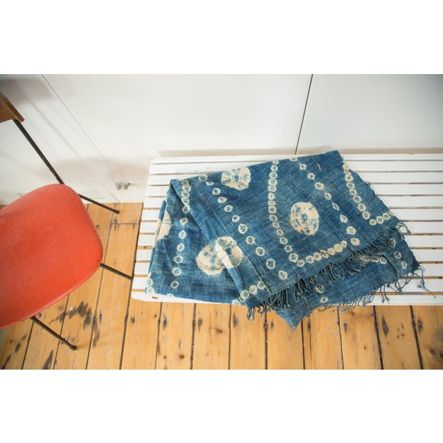 """Vintage African Textile Throw - 3'2"""" X 5'7"""" - Image 2 of 5"""