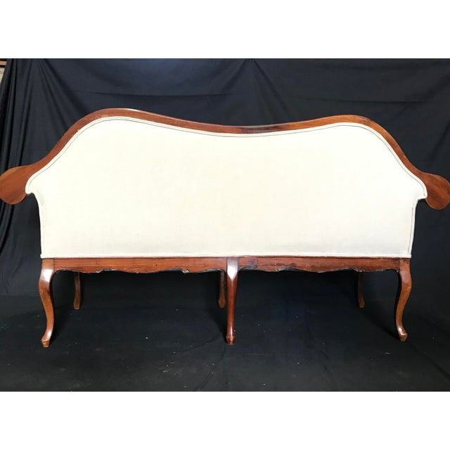 French Louis XV Style Walnut Loveseat With Cabriole Legs For Sale - Image 4 of 6